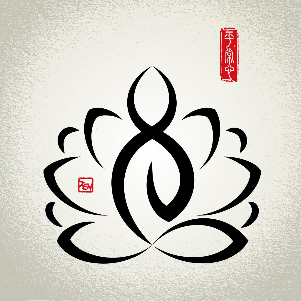 Lotus and Zen meditation